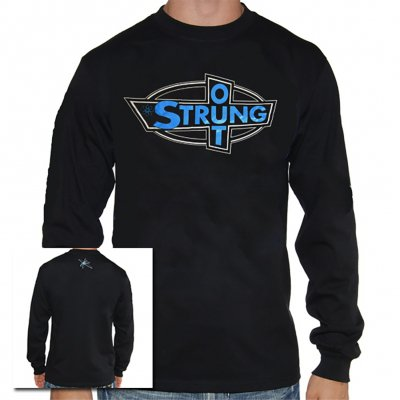 Strung Out - Blue OG Logo Long Sleeve Tee (Black)