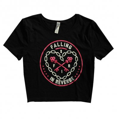 Falling In Reverse - Heart Chain Crop Top