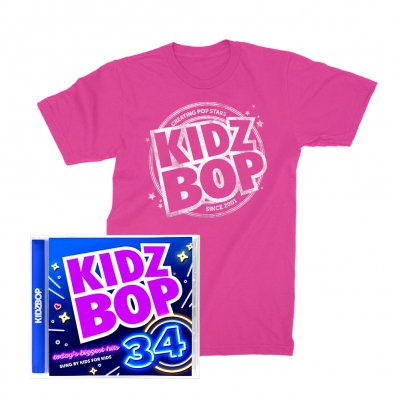 kidz-bop - KIDZ BOP 34 Bundle: CD + T-Shirt (Pink)