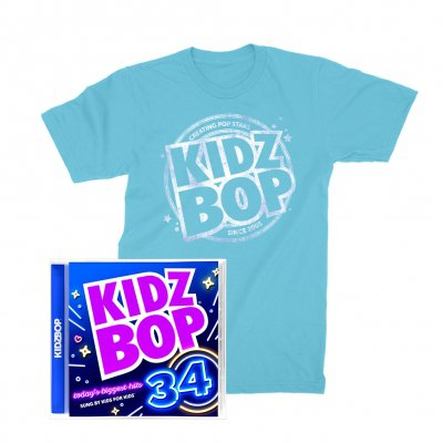 kidz-bop - KIDZ BOP 34 Bundle: CD + T-Shirt (Blue)