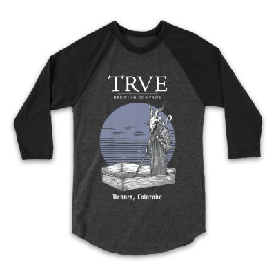 trve-brewing-company - Buried Sun Raglan (Heather Grey/Black)