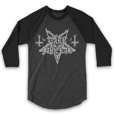 dark-funeral - Logo Raglan (Heather/Black)