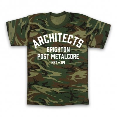 architects - Brighton Post Metalcore T-Shirt (Camo)