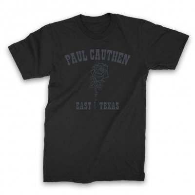 Paul Cauthen - East Texas Rose T-Shirt (Black)