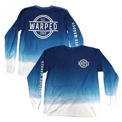 vans-warped-tour - Forever Warped Dip Dye Long Sleeved Tee (Blue)