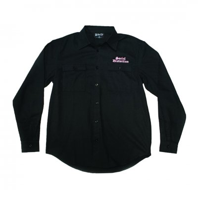 Logo Embroidered Flannel (Black)