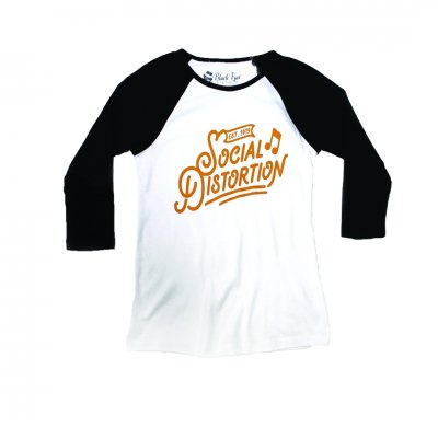 Social Distortion - Established Raglan - Women's (Black/White)