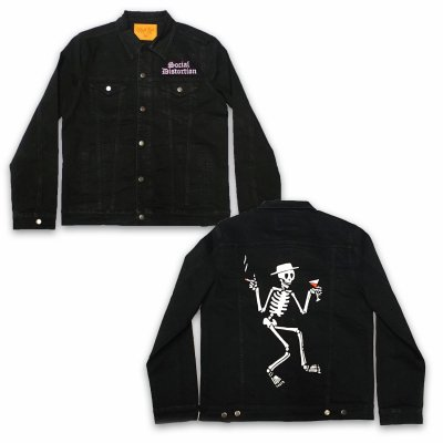 social-distortion - Skelly Denim Jacket (Black)