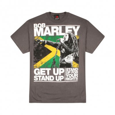 Bob Marley - Get Up Stand Up Tee (Charcoal)