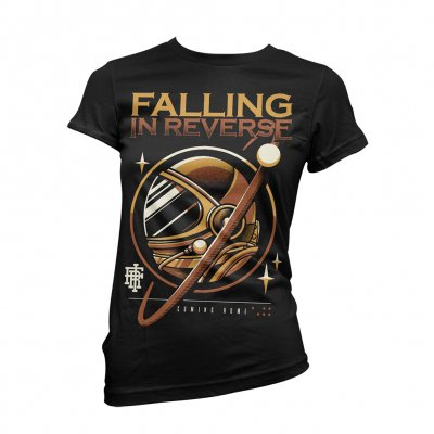 falling-in-reverse - Womens Gold Astro Tee (Black)