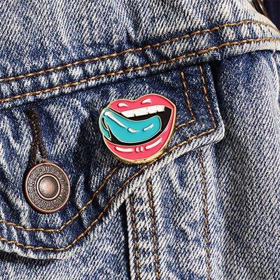falling-in-reverse - Lips Enamel Pin (Pink)