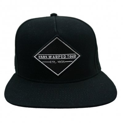 vans-warped-tour - VWT Diamond Logo Black/Grey Snapback