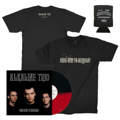 alkaline-trio - From Here To Infirmary LP (Black/Red) / From Here To Infirmary Tee (Black) + Coozie