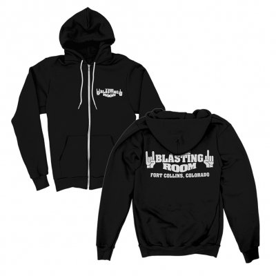 the-blasting-room - Logo Zip Hoodie (Black)