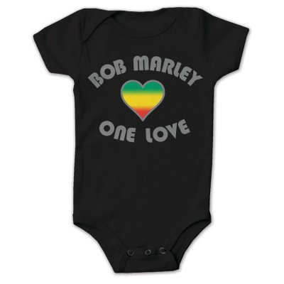 Bob Marley - One Love Heart Onesie