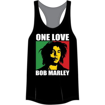 Bob Marley - One Love Racer Back Womens Tank