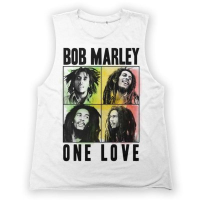 Bob Marley - One Love Quad Muscle Womens Tank