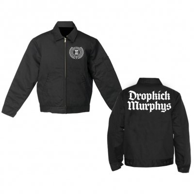 dropkick-murphys - Limited Crest Logo Flannel-Lined Work Jacket