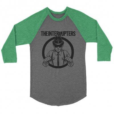 the-interrupters - Suspenders Raglan (Heather Grey/Kelly Green)