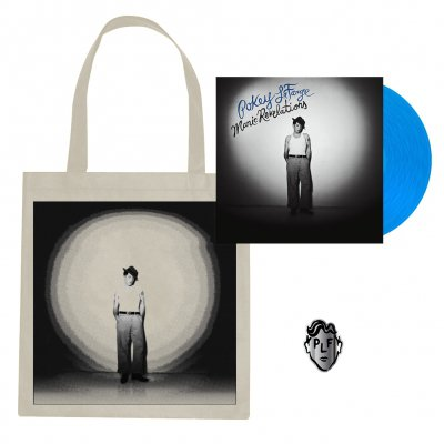 pokey-lafarge - Manic Revelations LP (Blue) + Tote Bag + Pin