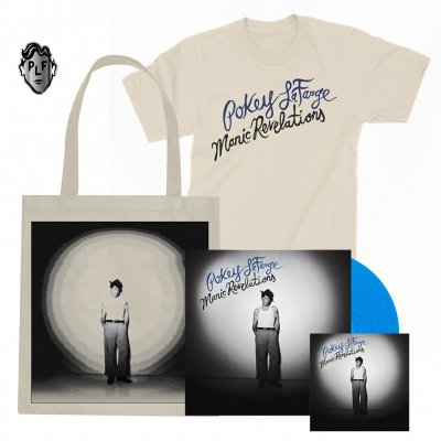 pokey-lafarge - Manic Revelations CD & LP (Blue) + T-Shirt (Natural)+ Tote Bag + Pin