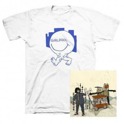 Girlpool - Powerplant CD + Happy Face T-Shirt (White)