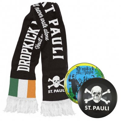 "Dropkick Murphys - FCSP x Dropkick Murphys Scarf + You'll Never Walk Alone 7"" (Pic Disc) Bundle"