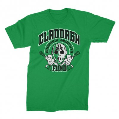 claddagh-fund - Hockey Mask Tee (Kelly Green)
