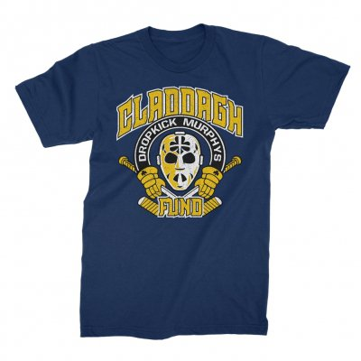 claddagh-fund - Hockey Mask Tee (Navy Blue)