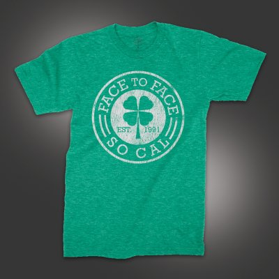 face-to-face - Four Leaf Clover T-Shirt (Heather Kelly Green)