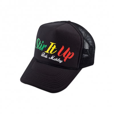 Bob Marley - Stir It Up Trucker Hat (Black)