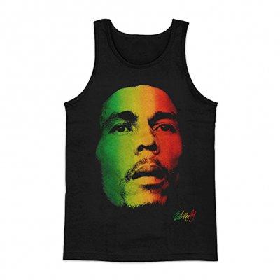 Bob Marley - Rasta Face Tank (Black)