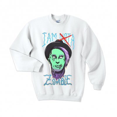 falling-in-reverse - I Am Not A Zombie Crewneck (White)