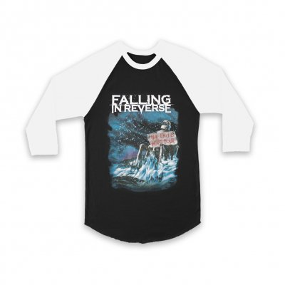 falling-in-reverse - End Is Near Baseball Tee (Black/White)