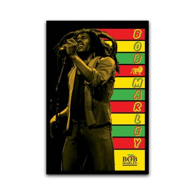 Bob Marley - Stripes Blacklight 24x36 Poster
