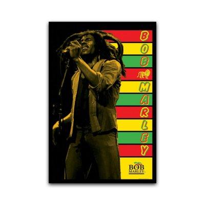 Bob Marley - Stripes Blacklight 24x36 Poster