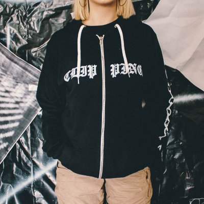 clipping - Wriggle Zip Up Sweatshirt (Black)