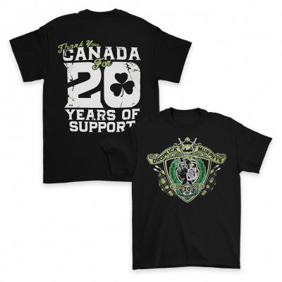 dropkick-murphys - 20 Years of Support Tee