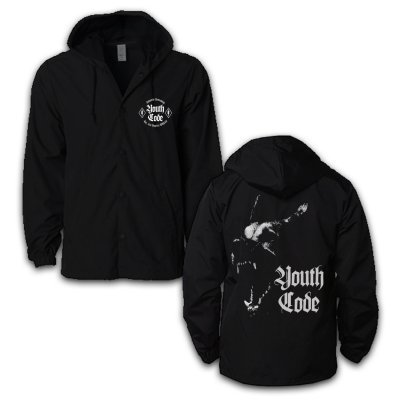 Youth Code - Dog Hooded Windbreaker (Black)