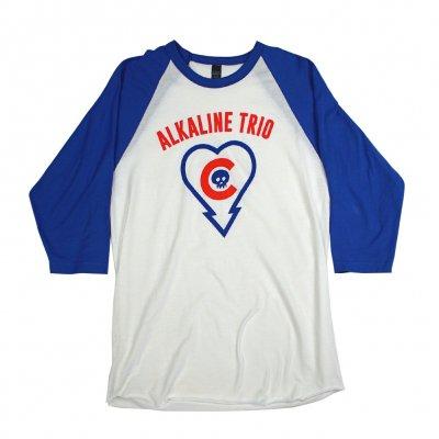 alkaline-trio - Heartskull/Cubs Raglan (Blue)