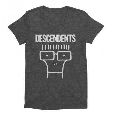 Descendents - Womens Classic Milo Shirt (Heather Charcoal)