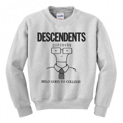 descendents - Milo Goes to College Crewneck (Heather Gray)