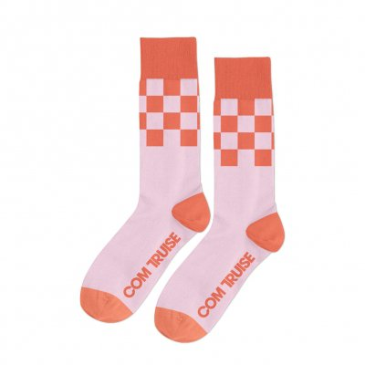 com-truise - Racer Socks (Pink/Orange)