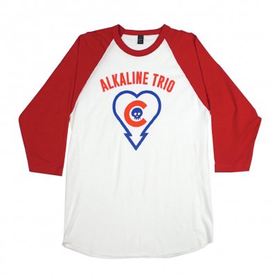 alkaline-trio - Heartskull/Cubs Raglan (Red)