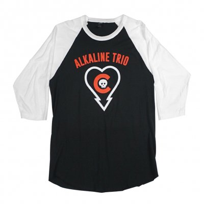 Heartskull/Cubs Raglan (Black/White)