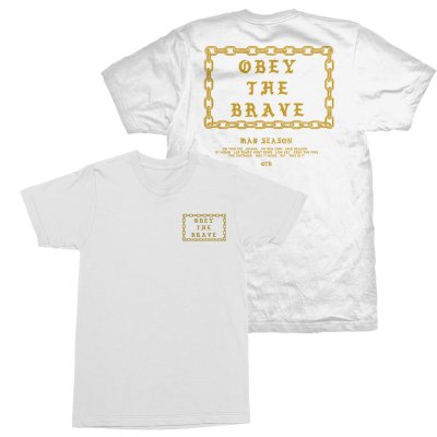 Obey The Brave - Gold Chain T-Shirt (White)