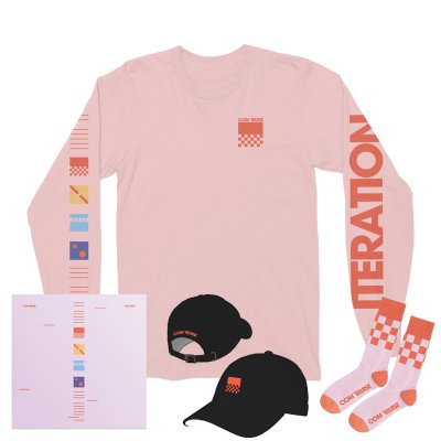 com-truise - Iteration CD + Long Sleeve T-Shirt (Pink) + Hat (Black) + Socks (Pink/Orange)
