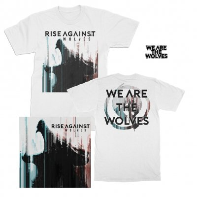 rise-against - Wolves CD + We Are The Wolves Tee + Enamel Pin Bundle