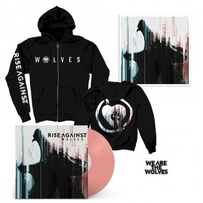 Rise Against - Wolves LP (PINK) + We Are The Wolves Hoodie + Wolves Lithograph + Enamel Pin Bundle