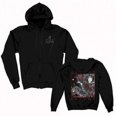 alcest - Kodama Zip Up Sweatshirt (Black)